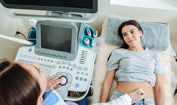 Woman having Ultrasound Scan